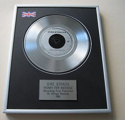 DIRE STRAITS Money For Nothing PLATINUM PRESENTATION DISC • 65£