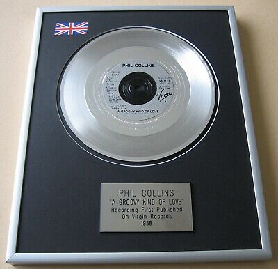 PHIL COLLINS A Groovy Kind Of Love PLATINUM PRESENTATION DISC • 59£