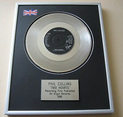 PHIL COLLINS Two Hearts PLATINUM PRESENTATION DISC • 65£