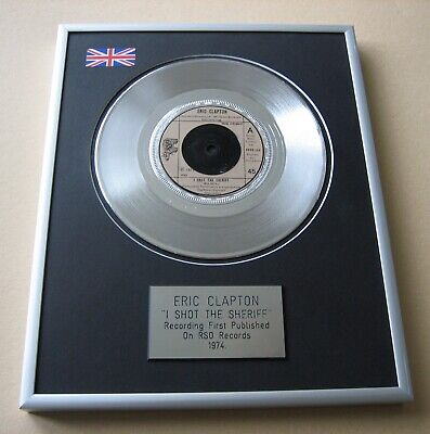 ERIC CLAPTON I Shot The Sheriff PLATINUM PRESENTATION DISC • 59£