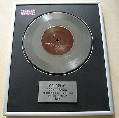 COLDPLAY Don't Panic PLATINUM PRESENTATION DISC • 65£