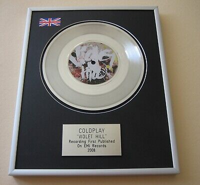 COLDPLAY Violet Hill PLATINUM PRESENTATION DISC • 65£