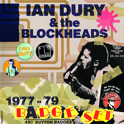 Ian Dury And The Blockheads 1977-1979 Badge Set - 49 Quality Button Badges • 24.50£