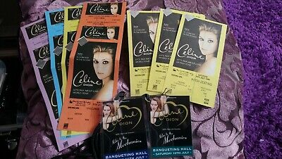 Celine Dion - Let's Talk About Love World Tour Lanyards And Tickets • 20£