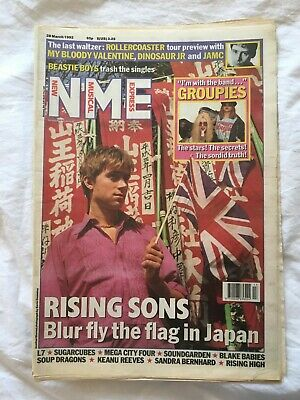 NME Damon Albarn - Blur Cover, 1990s, 28 March 1992, Blur In Japan, Britpop  • 10£