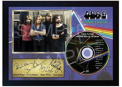 Pink Floyd The Dark Side Of The Moon SIGNED Autographed FRAMED PHOTO CD Disc  • 19.99£