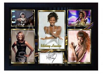 Whitney Houston The Voice  Music Framed Photo Pre-PRINT POSTER Perfect Gift  • 17.99£