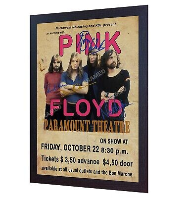 Pink Floyd Poster Vintage SIGNED Framed Photo PRINT Reprint POSTER • 19.99£