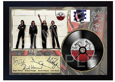 Pink Floyd The Wall MUSIC  SIGNED FRAMED PHOTO LP Vinyl  • 18.99£