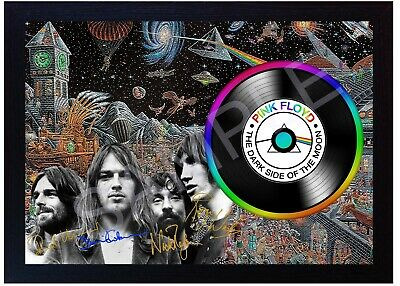 Pink Floyd David Gilmour  MUSIC  SIGNED FRAMED PHOTO LP Vinyl Perfect Gift • 19.99£