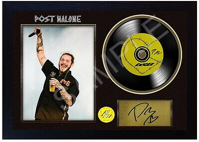 NEW! Post Malone B&B MUSIC  SIGNED FRAMED PHOTO LP Vinyl Perfect Gift • 19.99£