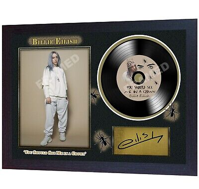 NEW! Billie Eilish  MUSIC  SIGNED FRAMED PHOTO LP Vinyl Perfect Gift • 19.99£