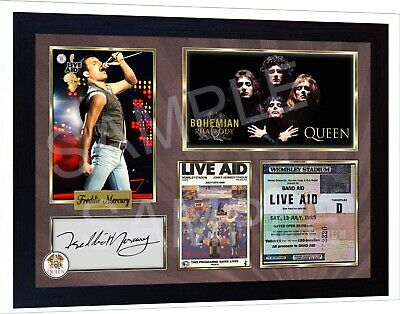 Freddie Mercury Queeen Framed Photo Pre-PRINT Signed Autograph POSTER Perfect  • 19.99£