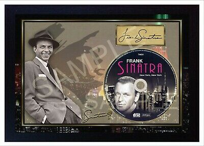 Frank Sinatra New York SIGNED Autograph FRAMED PHOTO Print CD Disc Perfect Gift  • 19.99£