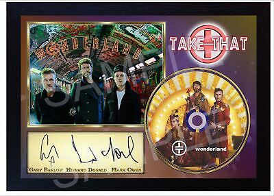 TAKE THAT Wonderland FRAMED Reprint PHOTO CD Disc Perfect Gift  • 19.99£
