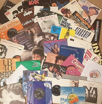 Pick Any 7  Vinyl Singles 1300+records 60s 70s 80s 90s £1.99each: Buy 7, 1 FREE! • 1.99£