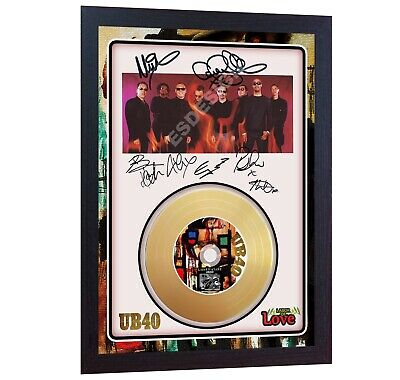 NEW! Labour Of Love UB40 Mini Gold Vinyl CD Record Signed Framed Photo  • 19.99£