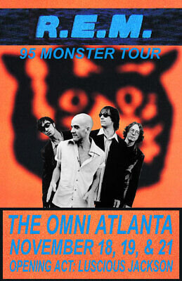R.e.m. Replica *monster Tour* 1995 Concert Poster • 10.01£