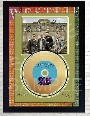 New! Westlife Spectrum Mini Gold Vinyl CD Record Signed Framed Photo  • 19.99£