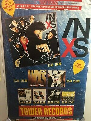 HUGE SUBWAY POSTER INXS TOWER RECORDS Birthday Sale Album PROMO NOS  • 71.49£