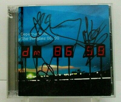Depeche Mode THE SINGLES 86>98, Autographed Double CD, Reprise PROMO (1998) • 222.25£