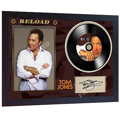 NEW! Tom Jones Sex Bomb Reload MUSIC SIGNED FRAMED PHOTO LP Vinyl  • 19.99£