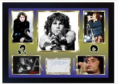 NEW! Jim Morrison The Doors Framed Photo PRINT Signed Autograph POSTER Perfect  • 19.99£