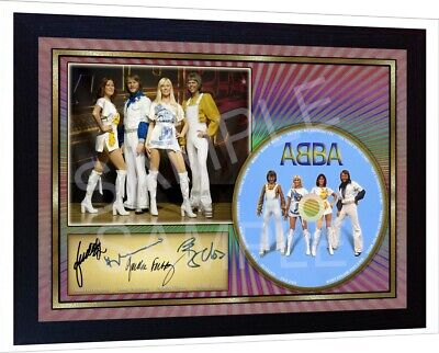 NEW! Abba Hits SIGNED FRAMED PHOTO Print CD Disc Autograph • 19.99£