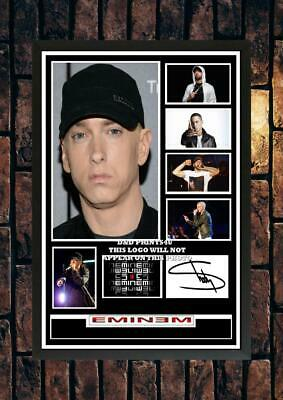 (#220) Eminem Slim Shady Signed A4 Photo//framed (reprint) Great Gift @@@@@@@@@@ • 5.99£