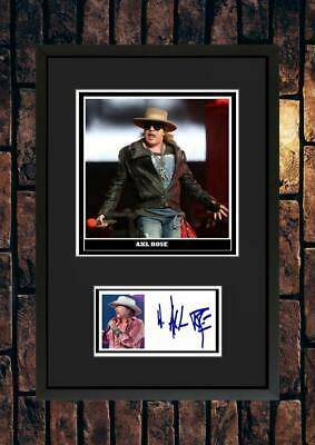 (#251)  Axl Rose Guns N Roses Signed A4 Photo//framed (pp) Great Gift ++++ • 14.99£
