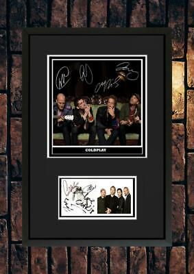 (#254)  Coldplay  Signed A4 Mounted Photo Or Framed (reprint) ++++++++++++++++++ • 14.99£