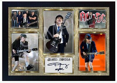 NEW Angus Young ACDC AC/DC Framed Photo Reprint POSTER Signed • 19.99£