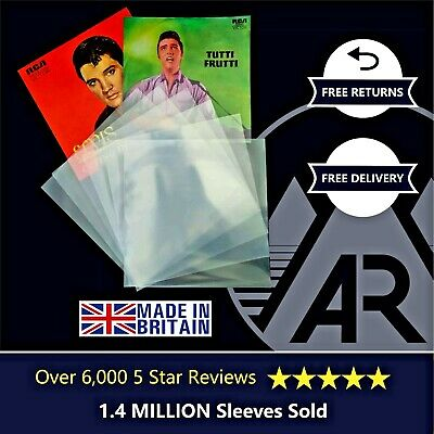 50 7  Inch 250g Gauge Plastic Polythene Record Sleeves - 45RPM Vinyl Covers  • 3.50£