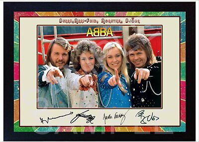 NEW!! ABBA Framed Photo PRINT Reprint POSTER Perfect Gift  • 19.99£
