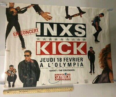 HUGE SUBWAY POSTER INXS Kick Never Tear Us Apart New Sensation Classic Rock • 157.32£