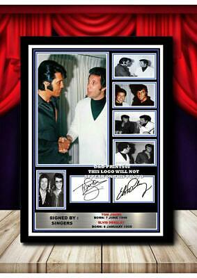 (#325) Tom Jones & Elvis Presley Signed  A4 Photo//framed/unframed Great Gift Pp • 14.99£