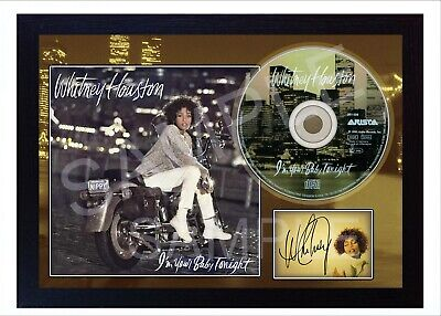 I'm Your Baby Tonight  Whitney Houston SIGNED PHOTO DISPLAY AND CD DISC • 19.99£