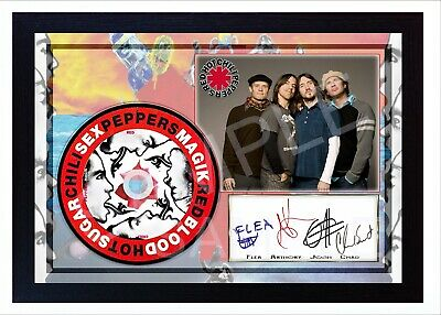 RED HOT CHILI PEPPERS Blood Sugar  SIGNED FRAMED PHOTO Print CD Disc Autograph • 19.99£