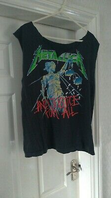 Metallica Tour T Shirt And Justice For All  1988 Customized Tour Dates • 60£