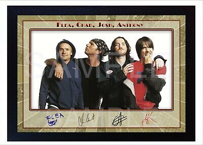 NEW! Red Hot Chili Peppers Framed Photo REPRINT Reprint POSTER Signed • 19.99£