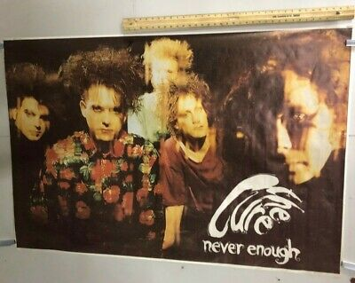 HUGE SUBWAY POSTER The Cure Never Enough Robert Smith Post Punk Gothic 1990's • 202.59£