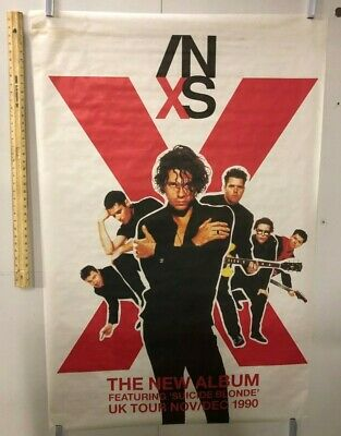 HUGE SUBWAY POSTER INXS The New Album 1990 UK Tour Suicide Blonde Hutchence  • 209.59£