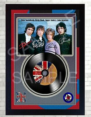 NEW! The WHO MUSIC  SIGNED FRAMED PHOTO LP Vinyl Perfect Gift • 19.99£