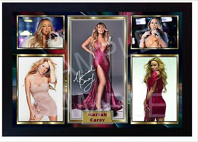 NEW! Mariah Carey Autographed Signed Framed Photo PRINT Reprint POSTER • 19.99£