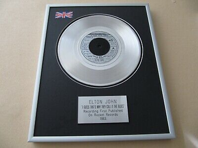 ELTON JOHN I Guess That's Why They Call It The Blues PLATINUM PRESENTATION DISC • 59£