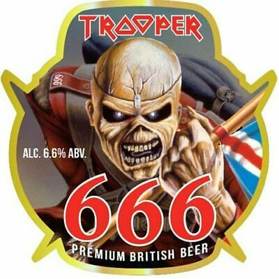 IRON MAIDEN The Trooper  666 Sticker Eddie • 1.90£