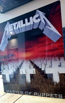 Metallica Masters Of Puppets 12x12 Inch Metal Sign • 14.99£