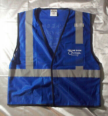 Celine Dion 2019 Courage Tour Local Crew ML-Kishigo Safety Vest L-XL Blue • 23.94£