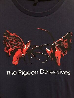 The Pigeon Detectives Wait For Me 2007 T-Shirt Official Merch Size L • 15£