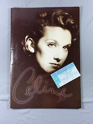 Vtg 1996 Celine Dion Tour Book & Ticket Stub Falling Into You • 23.94£